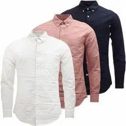 MTM Multicolor Plain Full Men Cotton Formal Shirt