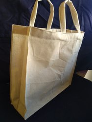 White Cotton Box Type Bags