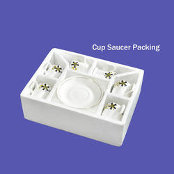 White Cup Saucer Thermocol Packing, For Packaging, Thickness: 1 - 15 mm