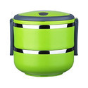 Two Layer Steel Green Lunch Box