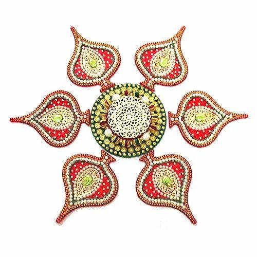 Om Handicrafts Kundan Rangoli