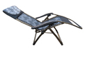 Folding Gravity Recliner Chair - 09CB - With Cushion-Grey