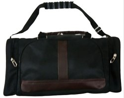 Coated Fabric Vrinda Black Travel Duffle Bag