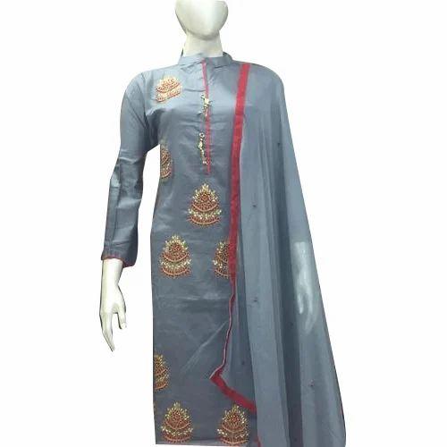 5fb4f6acaa9 Cotton Semi Stitched Churidar Dress