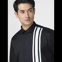 Green Hill Men''s Designer Black Three Stripes Shirt