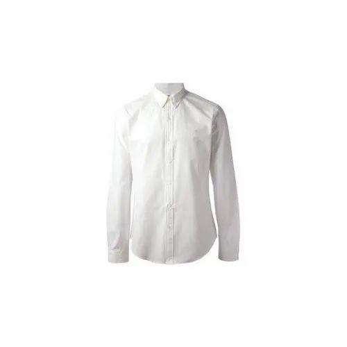 White Cotton Men' s Hotel Shirt, Size: 44