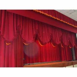Plain Silk Stage Curtain