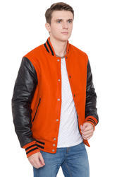 Knit Collar Varsity Jacket