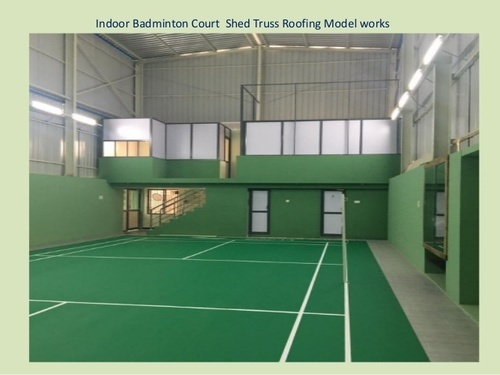 Prefab Synthetic Badminton Court Construction Service Id 19672739288