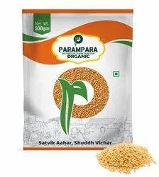 Parampara Organic Yellow Mustard Seeds (Rai), Packaging Size: 500 g, Packaging Type: Pouch