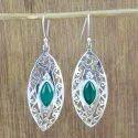 925 Sterling Silver Jewelry Ruby Gemstone Stone Earring