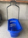 Rolling Plastic Shopping Trolley