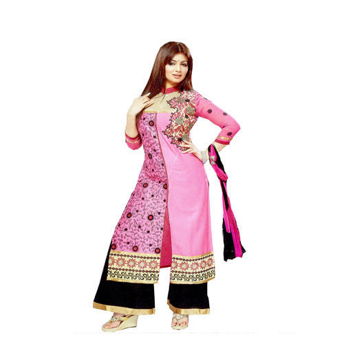 Ladies Stylish Party Wear Silk Suit, Ladies Party Wear Suit - Maa ...