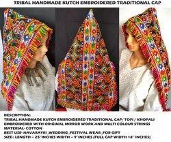 Gujarati Navratri Wear Cap - Kutchi Original Mirror Work Topi