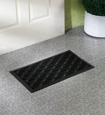 SWHF Black Rubber Door Mat, Size: 70x40 Cm