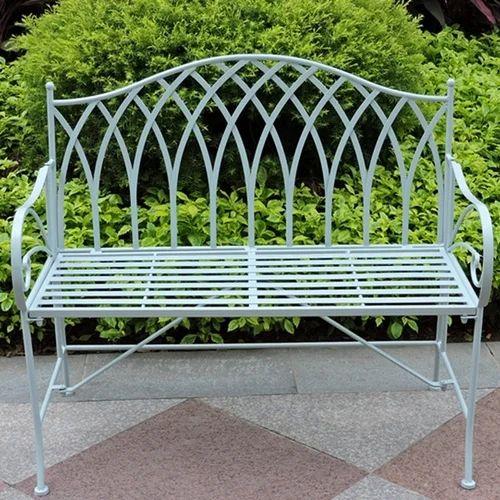 Astounding Garden Cast Iron Bench Bralicious Painted Fabric Chair Ideas Braliciousco