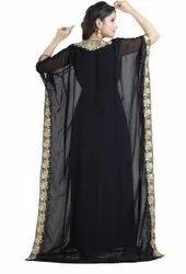 BLACK FARASHA MAXI DRESS FOR LADIES