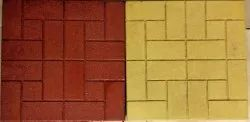 Matte Red, Yellow Garden Floor Tiles