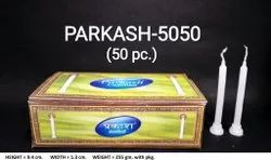 Parkash-5050 Plain White Candles (50 Pcs / Pkt)