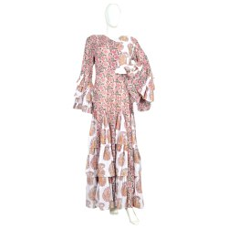10 Cotton Hand Printed Women's Long Dress India DB26