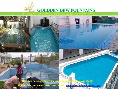 Cement Outdoor Swimming Pool