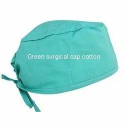 Green Surgical Cotton Cap, Quantity Per Pack: 25 Pieces