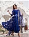 Rayon Long Length Gown Kurtis With Dupatta