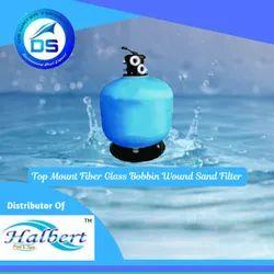 Top Mount Fiber Glass Bobbin Wound Sand Filter