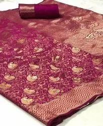 Banarasi Silk Saree with Reach Pallu