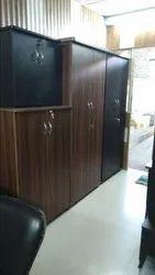 Black Particle Wooden Almirah