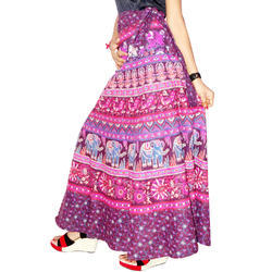 Girls Multicolor Wrap Around Skirt