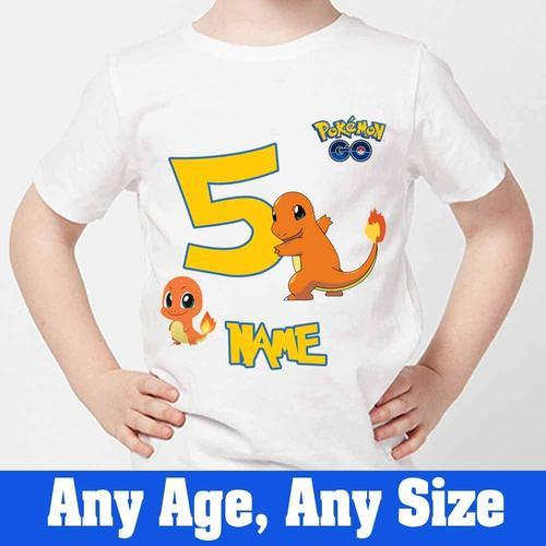 3d778fc5 White Women Sprinklecart Charmander Pokemon's Lovely Birthday Tee ...