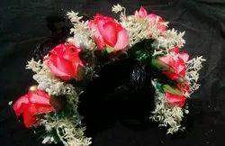 Rose flowers hair brooch