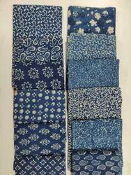 Indigo - Tie Dye Printed Cotton Fabric
