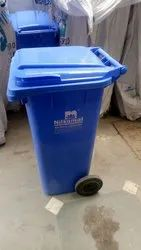 Open Top Green Blue Nilkamal Garbage Bins for Outdoor