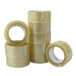 Brown And White BOPP Self Adhesive Tape