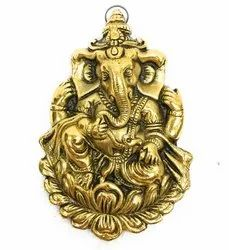 Gold Plated Ganesha on Kamal Hanging