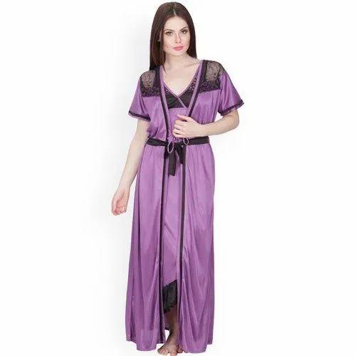 e52cefaa0c9 Full Length Plain Ladies Fancy Night Dress
