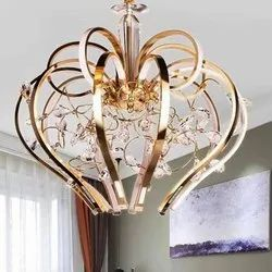 LED Brass Decorative Ceiling Hanging Chandelier, For Decoration