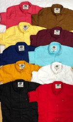 Plain Slim Fit Casuals Shirts