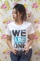 Ladies Round Neck T Shirt We Are One