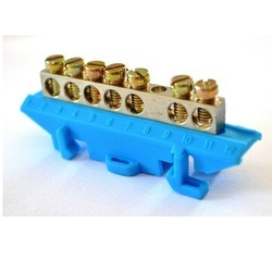 7 Way Brass Neutral Link with Base