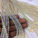 Natural White Ethiopian Welo Opal Stone Faceted Round Ball Beads 5-9mm