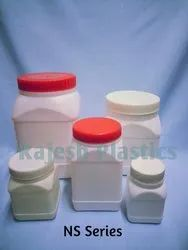 HDPE Wide Mouth Square Jars