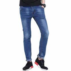 Slim Fit Faded Men's Cotton Narrow Jeans