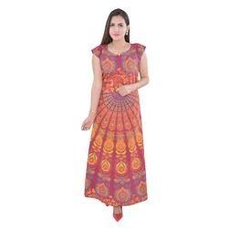 Red Badmeri Night Dress