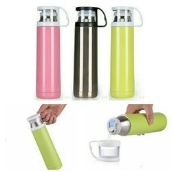 Green and Pink Promotional Flask Hot and Cold