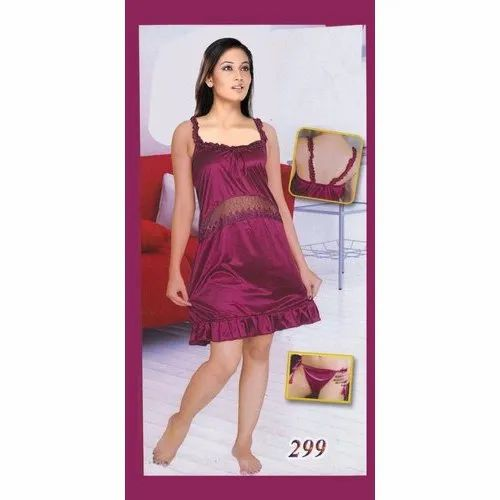 7ab7c573a5c38 Ladies Satin Short Bridal Nightgown at Rs 100 /piece | Satin ...