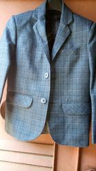 Boys Full Sleeve Check Blazer