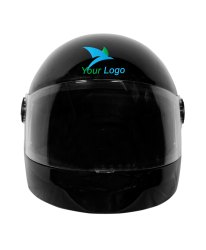 Black Youth Premium Rider Full Face Safety Helmets, Packaging Type: Box